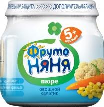 """Пюре """"Овощной салатик"""", с 5 мес., 80 гр., Фрутоняня"""