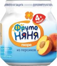 """Пюре """"Персик"""", с 4 мес., 100 гр., Фрутоняня"""