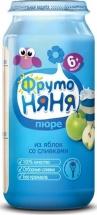 """Пюре """"Яблоко со сливками"""", с 6 мес., 250 гр., Фрутоняня"""