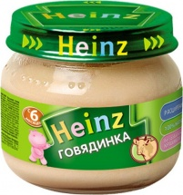 "Пюре ""Говядина"", с 6 мес., 80гр., Heinz"