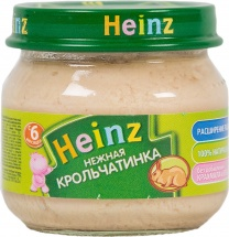Пюре Heinz Нежная крольчатинка с 6 мес 80 г