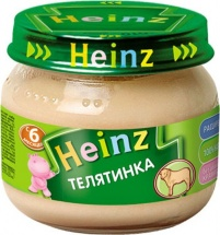 """Пюре """"Телятинка"""", с 6 мес., 80гр., Heinz"""