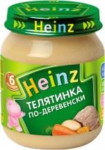 "Пюре ""Телятина по-деревенски"", с 6 мес., 120гр, Heinz"