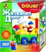Конструктор Bauer Железная дорога Эко 32 элемента
