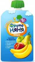Пюре Фрутоняня Салатик из фруктов с 6 мес 90 г