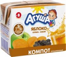 Компот Агуша Изюм-Курага-Яблоко с 8 мес 200 мл