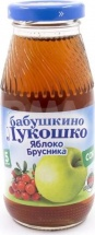 Сок Бабушкино лукошко Яблоко-Брусника осветленный с 5 мес 200 мл