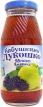 """Сок """"Яблоко и ежевика"""" осветленный с 5 месяцев 200 мл., Бабушкино лукошко"""