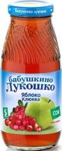 """Сок """"Яблоко и клюква"""" осветленный с 5 месяцев 200 мл., Бабушкино лукошко"""