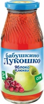 Сок Бабушкино лукошко Яблоко-Клюква осветленный с 5 мес 200 мл