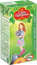 """Нектар """"Яблоко-слива"""" с мякотью с 5 мес., 125 мл, Сады Придонья"""