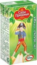Сок Сады Придонья Яблоко-Груша с мякотью с 5 мес 125 мл