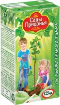 Сок Сады Придонья Яблоко прямой отжим осветленный с 4 мес 125 мл