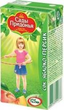 """Сок """"Яблоко-персик"""" с мякотью, с 5 мес., 125 мл, Сады Придонья"""