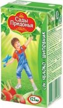 """Сок """"Яблоко-шиповник"""", с 6 мес., 125мл., Сады Придонья"""
