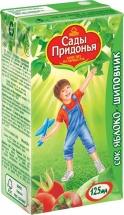 Сок Сады Придонья Яблоко-Шиповник осветленный с 6 мес 125 мл