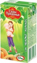 """Сок """"Яблочно-абрикосовый"""" с мякотью, с 5 мес., 125 мл, Сады Придонья"""