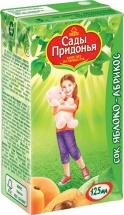 Сок Сады Придонья Яблоко-Абрикос с мякотью с 5 мес 125 мл