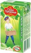 """Сок """"Яблочный"""" из зеленых яблок, с 4 мес., 125 мл., Сады Придонья"""