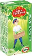 Сок Сады Придонья Зеленое яблоко осветленный с 4 мес 125 мл