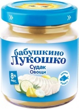Пюре Бабушкино лукошко Судак-Овощи с 8 мес 100 г