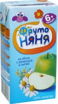 Напиток Фрутоняня Яблоко-Ромашка-Липа с 6 мес 200 мл