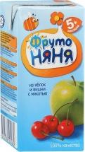Сок Фрутоняня Яблоко-Вишня с мякотью с 5 мес 200 мл