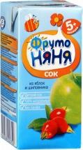 Сок Фрутоняня Яблоко-Шиповник осветленный с 5 мес 200 мл
