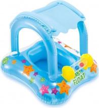 Детский надувной центр Intex с навесом, голубой