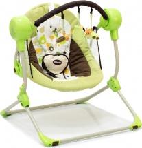 Электрокачели Baby Care Balancelle Green с пультом ДУ