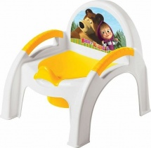 Горшок-стульчик Бытпласт Маша и медведь желтый