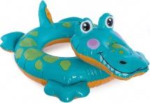 Круг для плавания Intex Крокодил 66 х 56 см