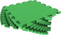 Мягкий пол универсальный Pol-par 33x33 см 9 дет, зеленый
