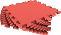 Мягкий пол универсальный Pol-par 33x33 см 9 дет, красный