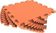 Мягкий пол универсальный Pol-par 33x33 см 9 дет, оранжевый