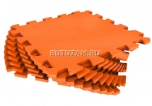 Мягкий пол универсальный, 33x33 см., 9 дет., оранжевый , Pol-par