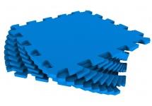 Мягкий пол универсальный, 33x33 см., 9 дет., синий, Pol-par