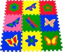 Мягкий пол Pol-par Бабочки 33Х33см 9 дет