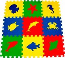 Мягкий пол Pol-par Морские животные 33x33 см 9 дет