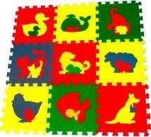 Мягкий пол Pol-par Животные 33x33 см 9 дет