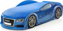 Кровать-машина UNO Ауди А4 с подсветкой фар и дна, синий