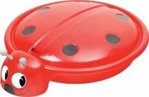 Песочница-бассейн Starplast Божья коровка с крышкой, красный