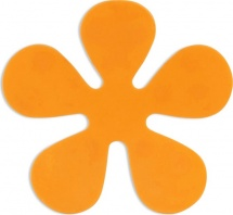 Мини-коврик Valiant Цветок, оранжевый
