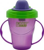 Поильник Lubby Классика. Фиолетовый с твердым носиком 175 мл