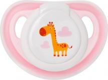 Пустышка Мир детства силик. ортодонт. 6-12 мес, розовый