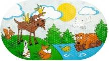 """Коврик для ванны Valiant """"Лесные животные"""" 69х39 см"""