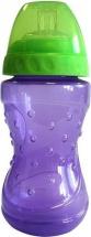 Поильник Lubby Спорт. Фиолетовый с мягким носиком 230 мл
