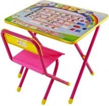"""Набор мебели №1 """"Алфавит"""", розовый, Дэми"""