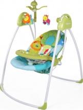 Электрокачели Baby Care Butterfly с адаптером, зеленый