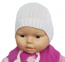 """Шапка детская """"Кристаллик"""" без подклада, розовый, Журавлик"""